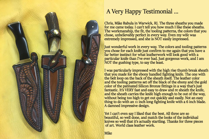 Great testimonial from an extremely happy customer
